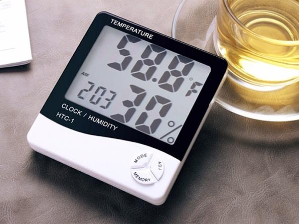 Nhiệt ẩm kế điện tử HTC-1 màn hình LCD lớn