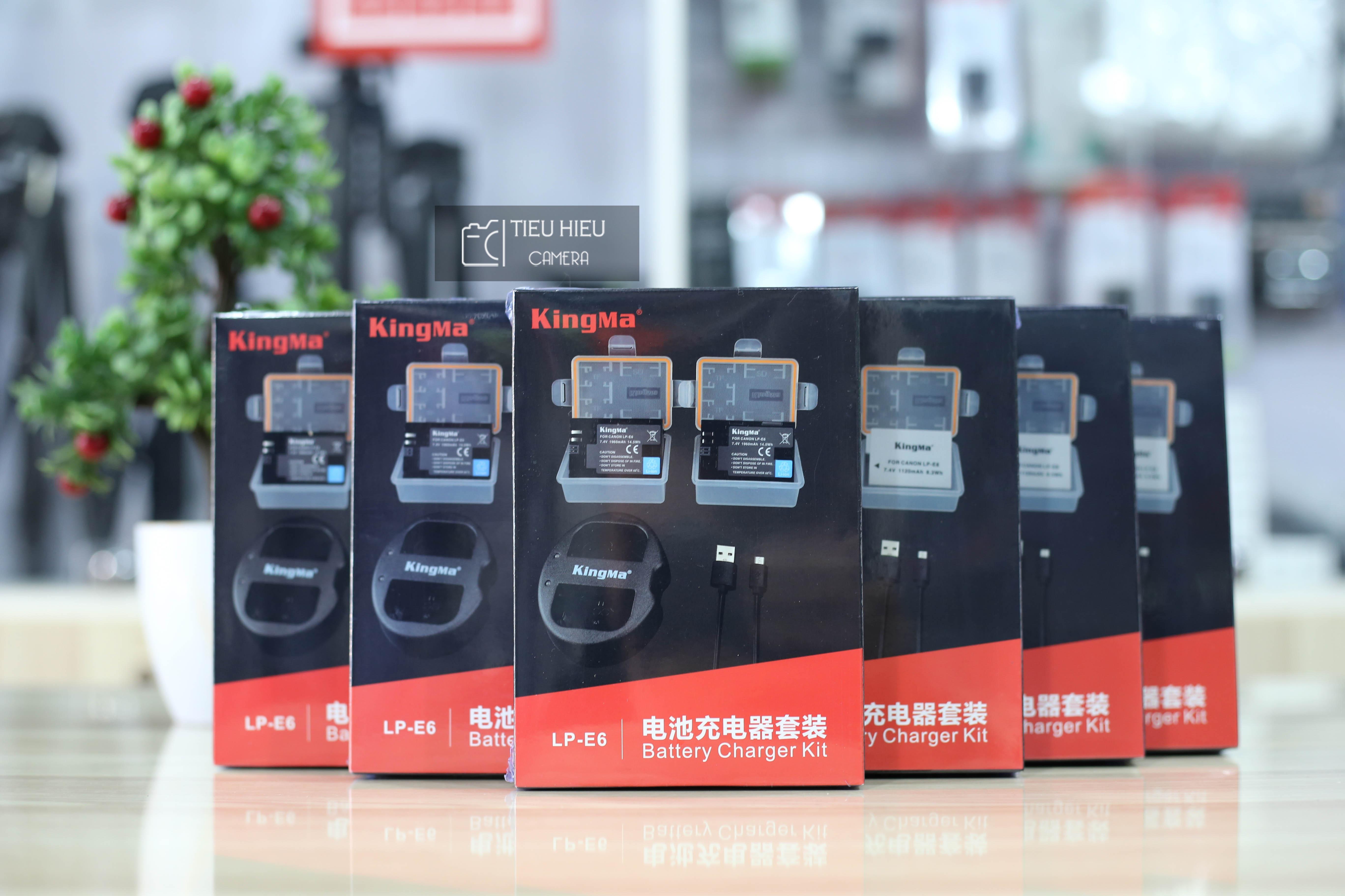 Combo 2 Pin và 1 Dock Sạc KingMa Canon LP-E6 cho Canon 60D, 70D, 6D, 7D, 5D Mark II, 5D Mark III...