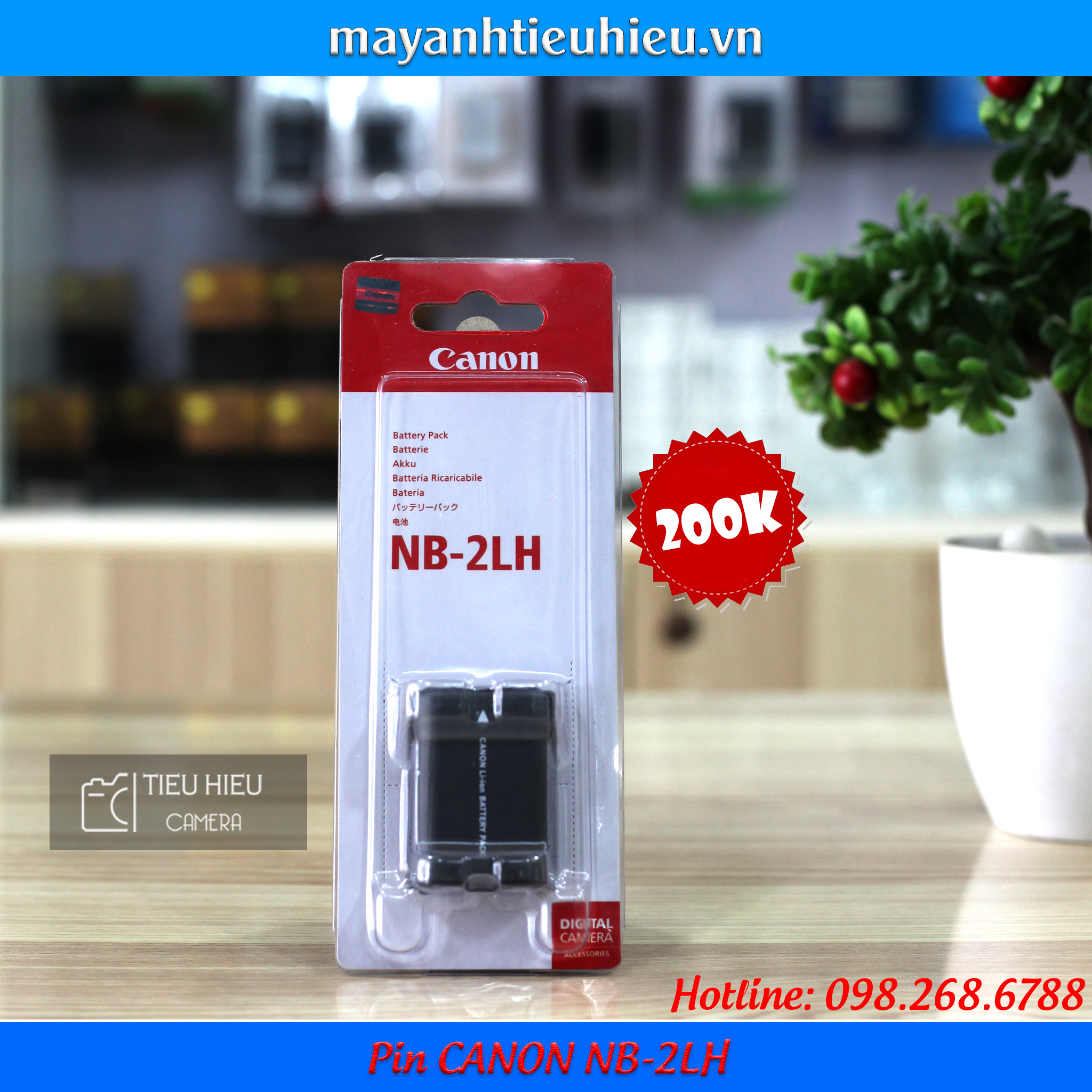 Pin Canon NB-2LH
