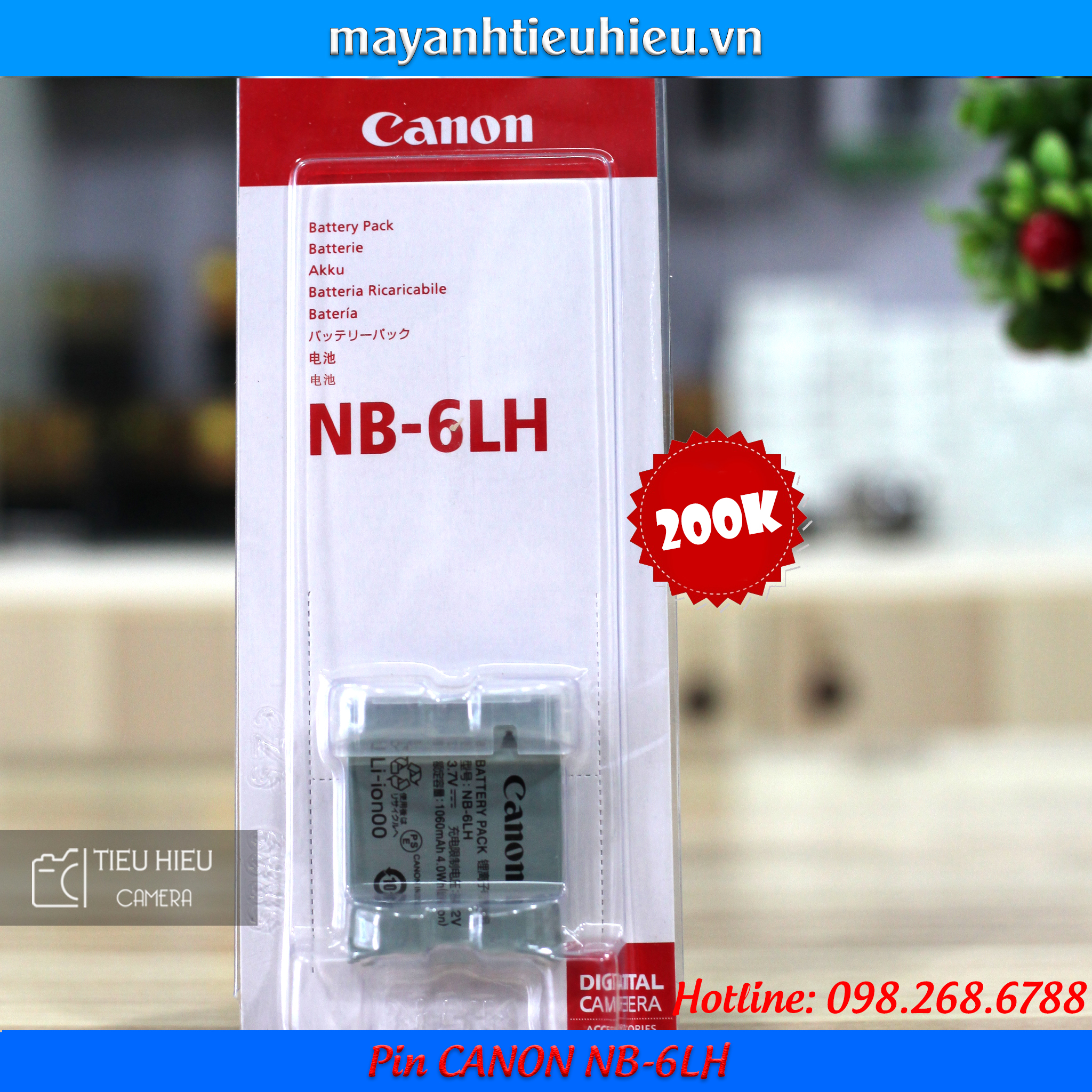 Pin Canon NB-6LH