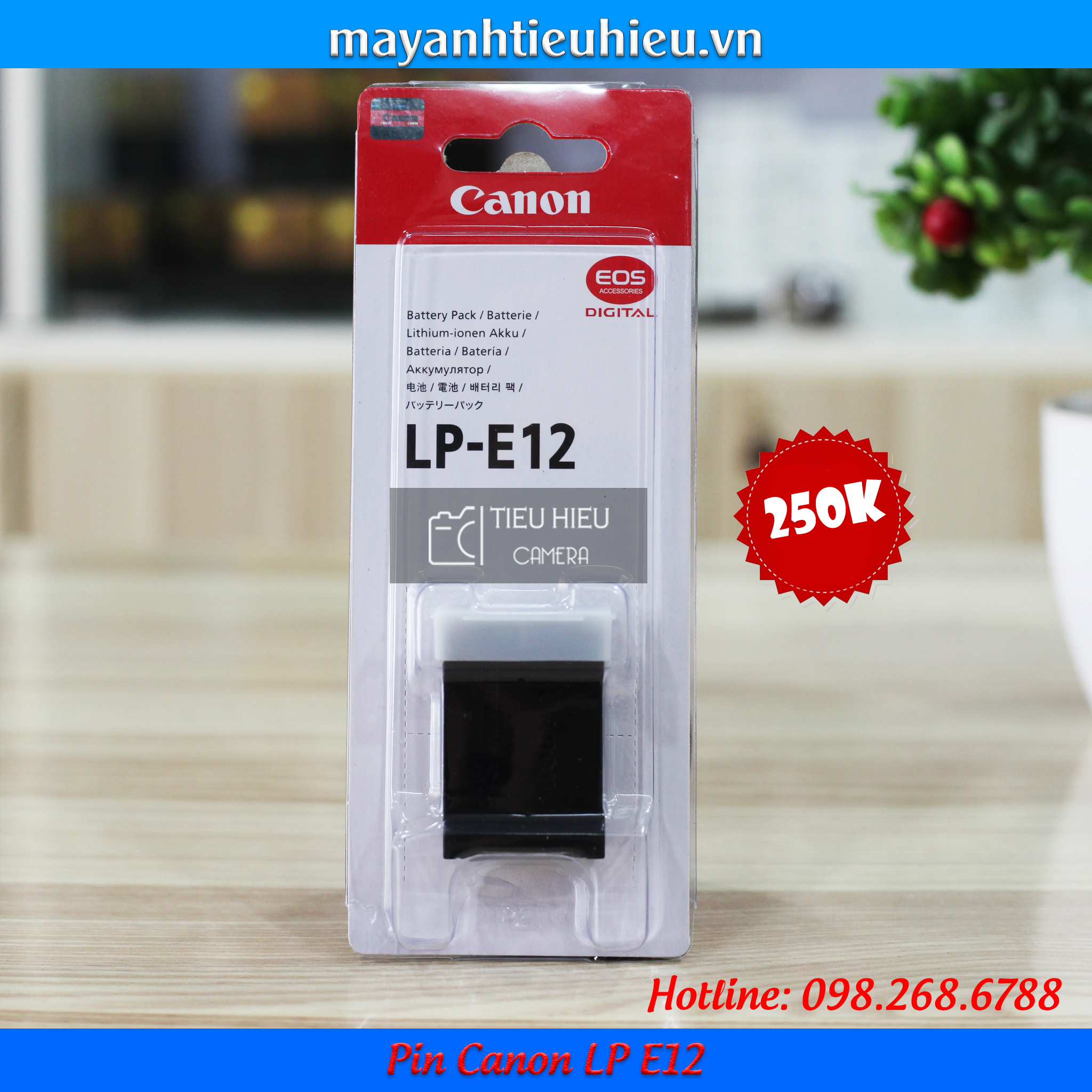 Pin Canon LP E12