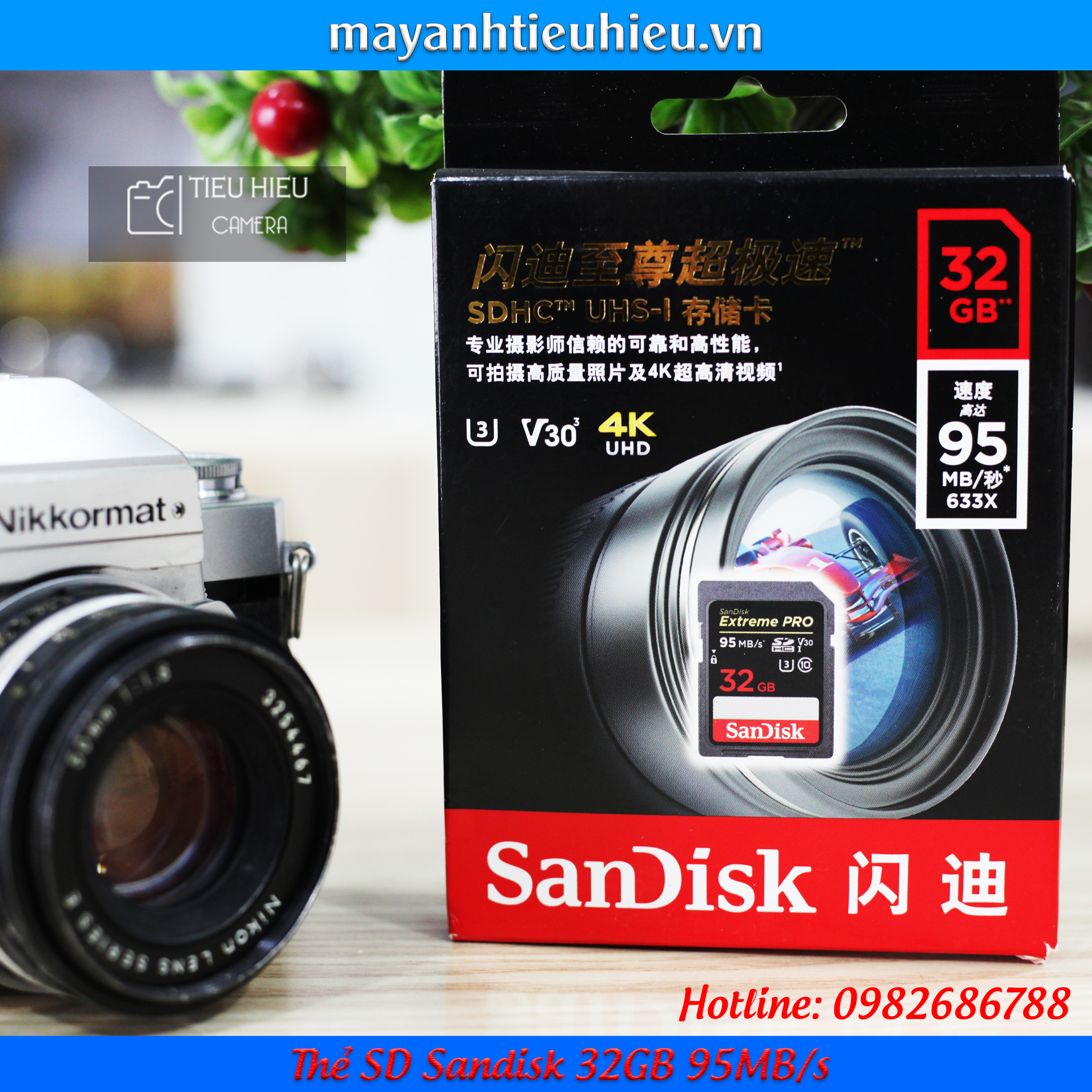 Thẻ SD Sandisk 32GB 95MB/s