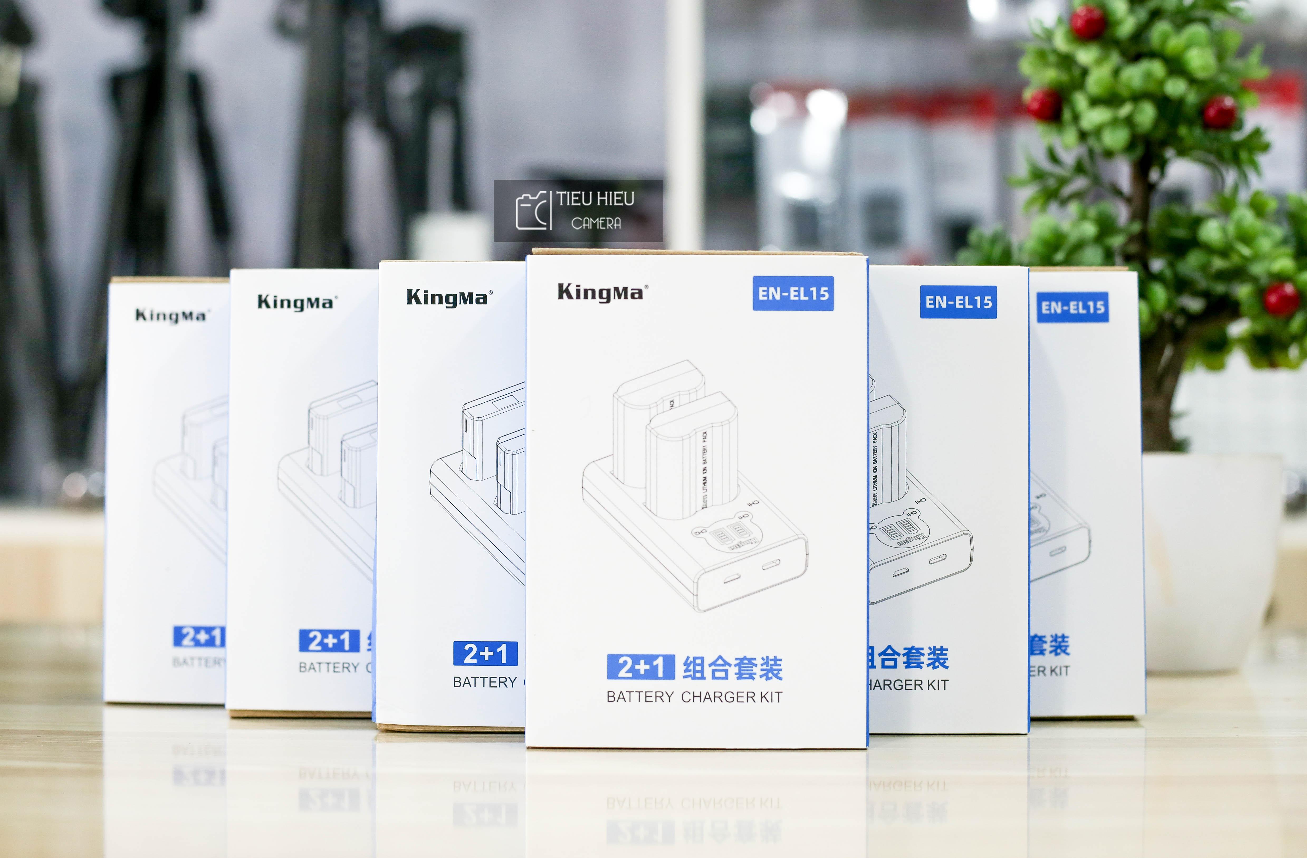 Combo 2 Pin và 1 Dock Sạc KingMa Nikon EL-EN15 Cho Nikon D7000, D7100, D7200, D800, D800E, D600, D610 ....