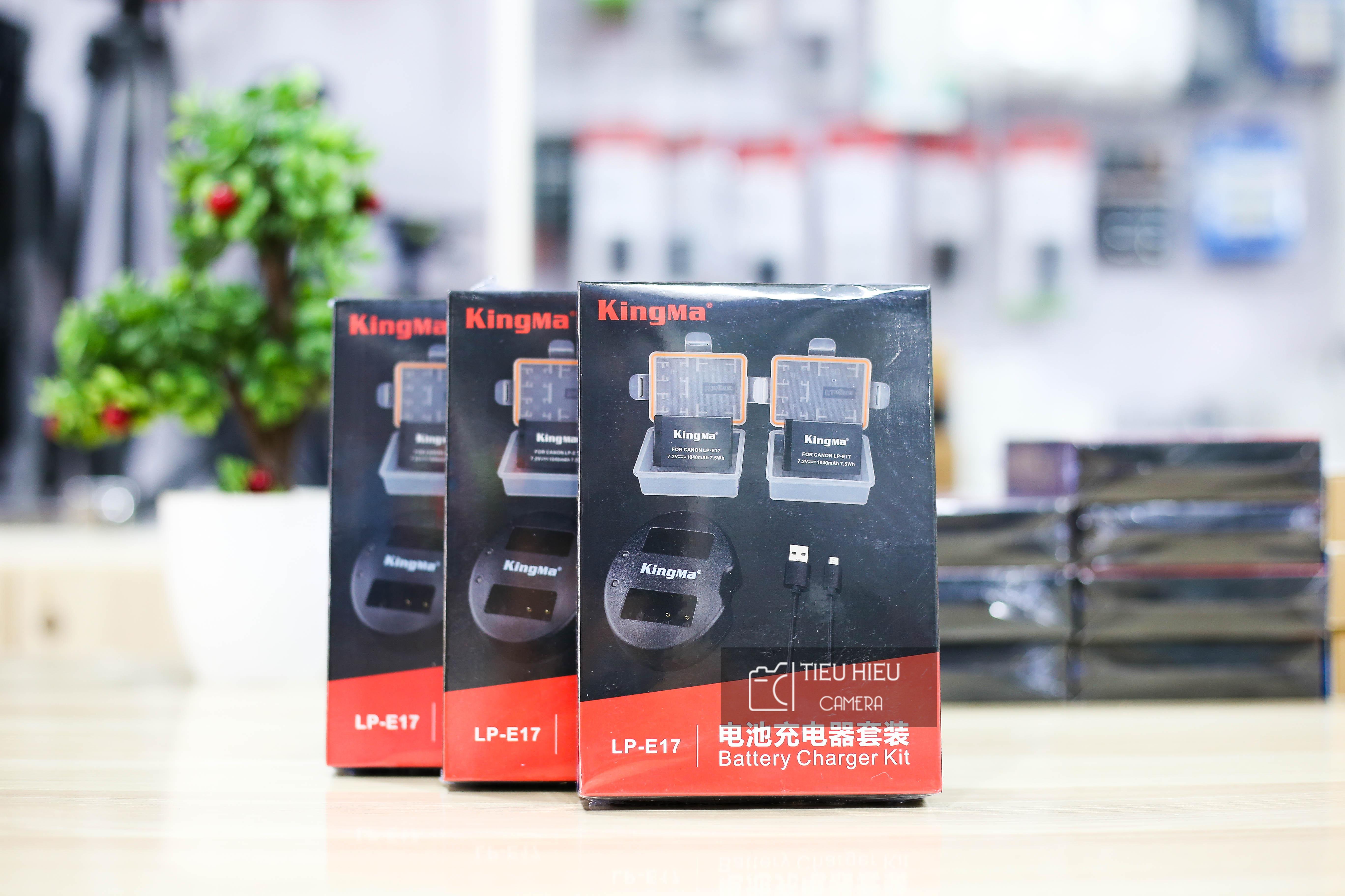 Combo 2 Pin và 1 Dock Sạc KingMa LP-E17 Cho Canon 750D, 760D, 800D, M3, M5, M7, 77D