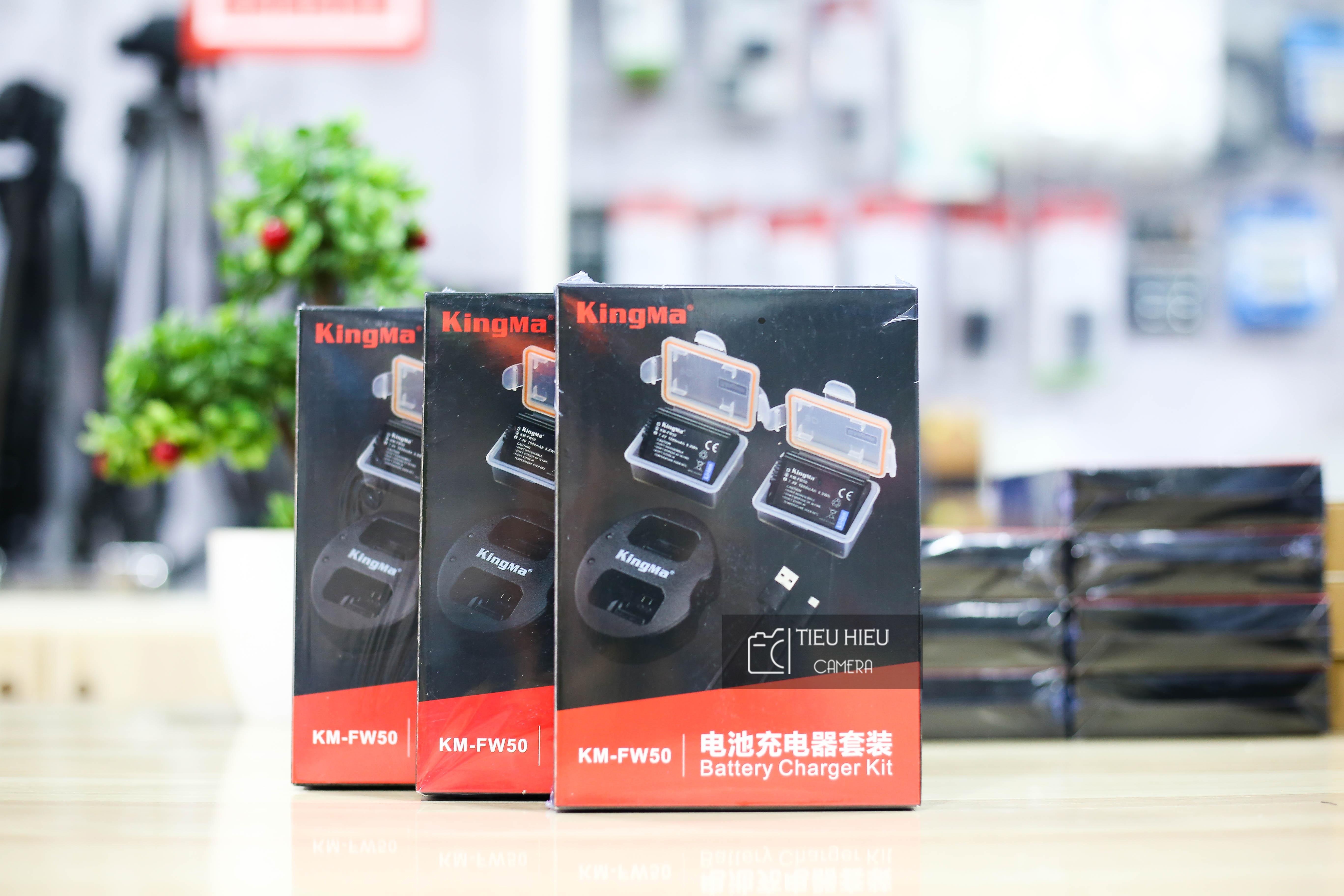 Combo 2 Pin và 1 Dock Sạc KingMa Sony FW-50 Cho Sony A6000, A6300, A6500, A7, A7 II, A7R, A7S